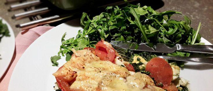 spinazie en tomaat