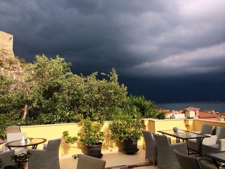 before the rain, view from our terrace!