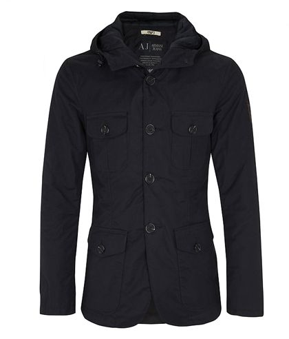 It is a black parka color, has buttons, has a cuf and lapels, is very nice and comfortable, your cost is £67.85.