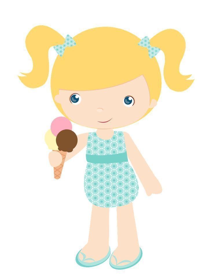 Nena Comiendo Helado Imagenes Infantiles Ninos Y Ninas Animados Dibujos De Bautizo