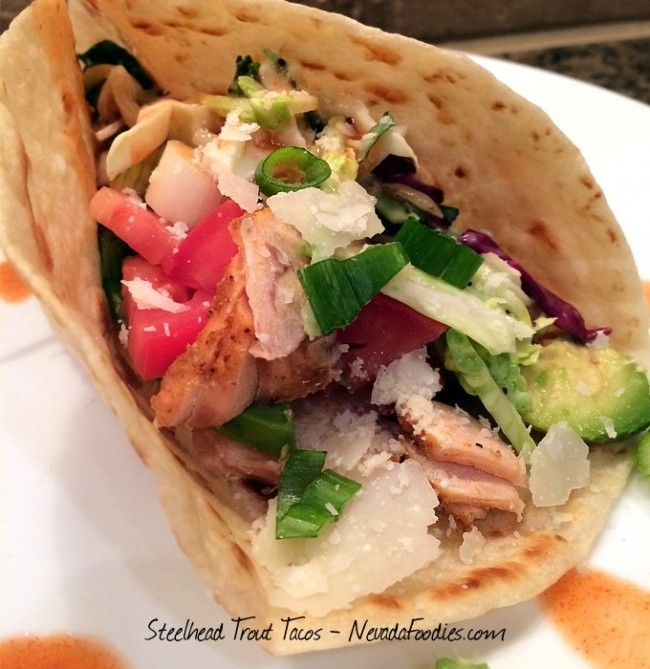 Kristy Crabtree's recipe for Steelhead Trout Tacos includes beautiful photos of the catch and the finished product. Kristy Crabtree: Steelhead Trout Tacos from 'Nevada Foodies' http://www.womensoutdoornews.com/2016/03/nevada-foodies-steelhead-trout-tacos/ via @teamwon