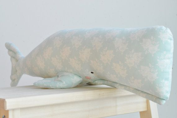 Adorable stuffed whale interior decor by dearblueberryshop on Etsy, €18.00