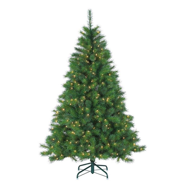 6.5 ft.|Clear 6.5 ft. Wisconsin Spruce prelit Full Christmas Tree by Sterling Tree Company Clear - 5955--65C