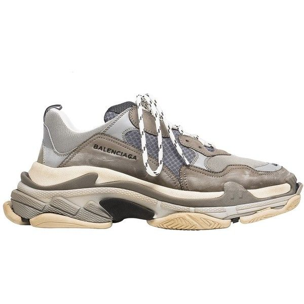 264242d9c58066 Balenciaga Triple S Sneaker Release Details The Source ❤ liked on Polyvore  featuring shoes