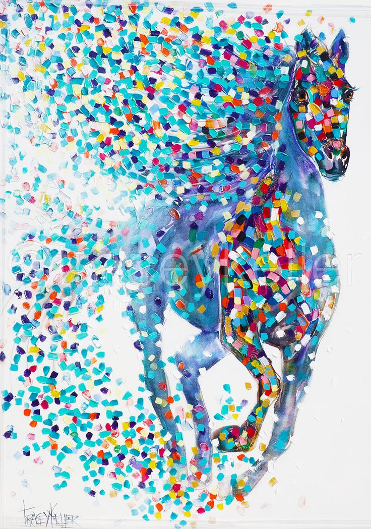 Destiny for Infinity horse painting tracey keller