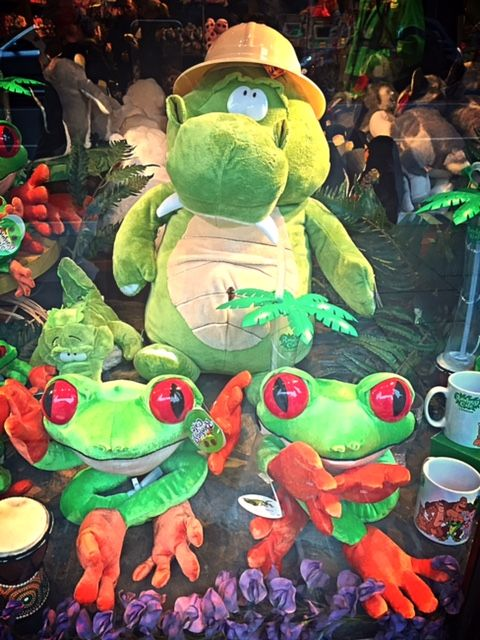 Our Nile the Crocodile and Cha Cha the Tree Frog cuddly toys!