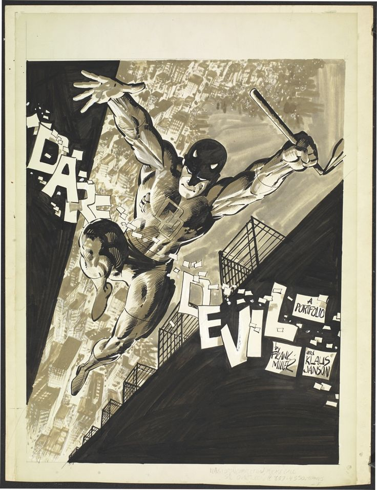 :Daredevil Portfolio cover by Frank Miller and Klaus Janson.