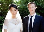 Priscilla Chan became Mrs Mark Zuckerberg on Saturday when they wed at their home in Palo Alto