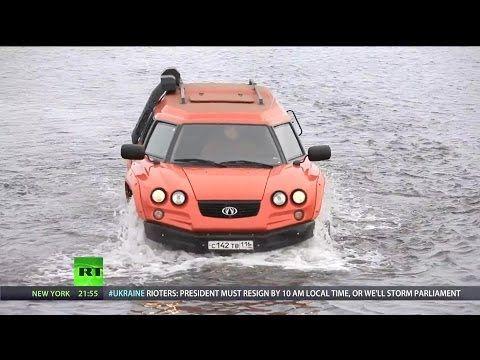Rough-and-tumble amphibious car conquers any terrain conceivable --RT - Aton Impulse Viking Amphibious Off-Road Vehicle [1080p]