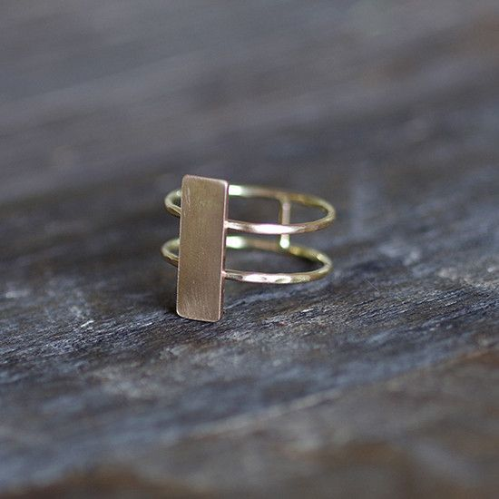 Double Band Rectangle Ring 20% OFF with CODE PINFUN