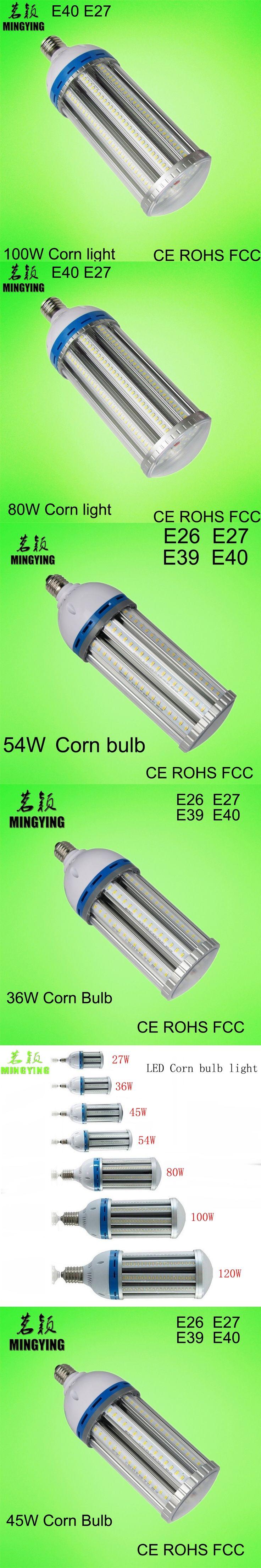 MINGYING LED Corn Bulb 36W 45W 54W 80W 100W 120W E26 E27 E39 E40 Factories Warehouse Parking Lot lighting street lamp CE EMC FCC