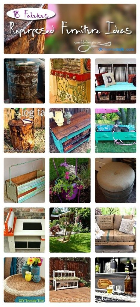 """18 Fabulous Repurposed Furniture Ideas 