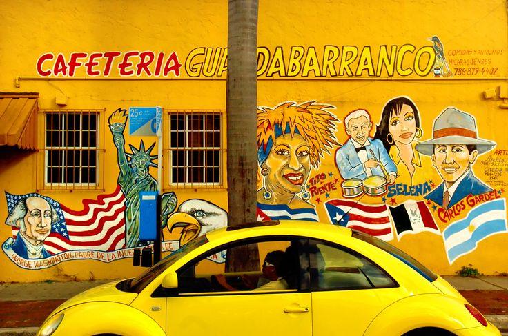 Little Havana, Calle Ocho, Miami- cool on the mural i recognise Selena, Celia, and Tito.