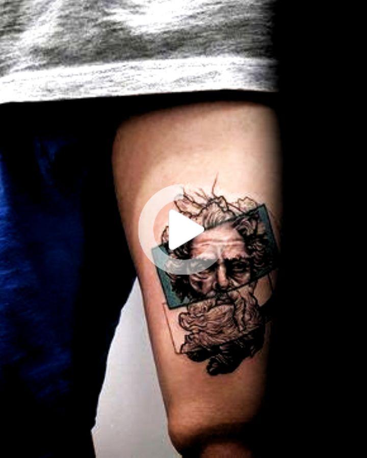 Greek God Coolest Guys Small Thigh Tattoo Design Ideas #