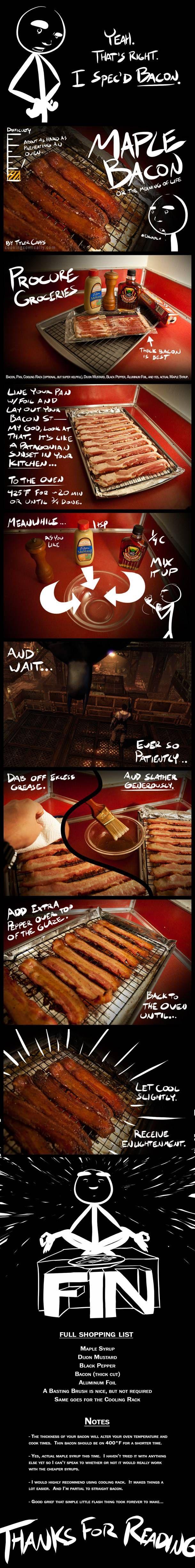 Maple Bacon - cooking comically version.