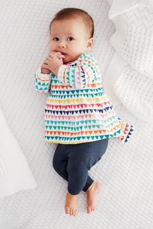 Multicoloured Print Tunic And Leggings Set (0-18mths) from Next