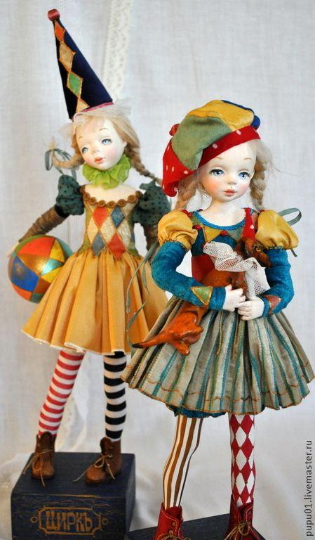 Купить Авторская кукла Играю в цирк! - кукла ручной работы, кукла интерьерная, кукла коллекционная