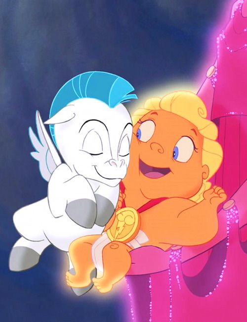 Baby #Hercules and #Pegasus are the best of friends.  #Disney