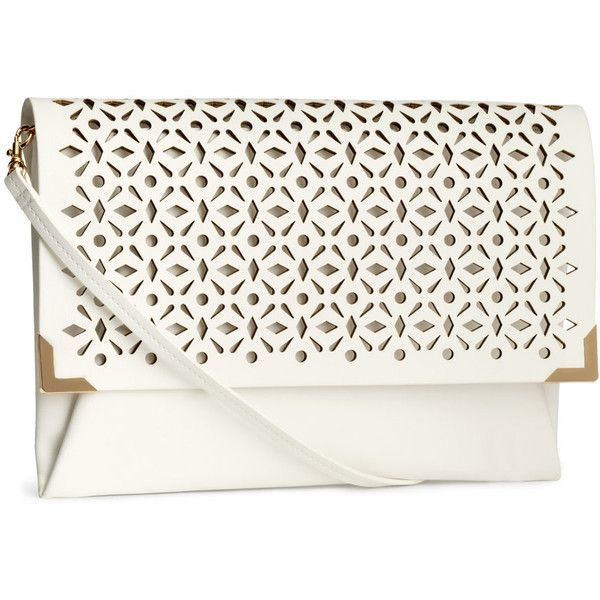 H&M Clutch bag ($22) ❤ liked on Polyvore featuring bags, handbags, clutches, h&m, taschen, purses, white, zipper purse, h&m handbags and h&m purses