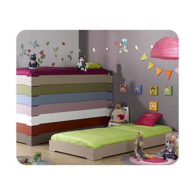 Lit Enfant Empilable 90x190 Cm Avec Sommier Avec Images Chambre Enfant Lit Enfant Mobilier Enfant