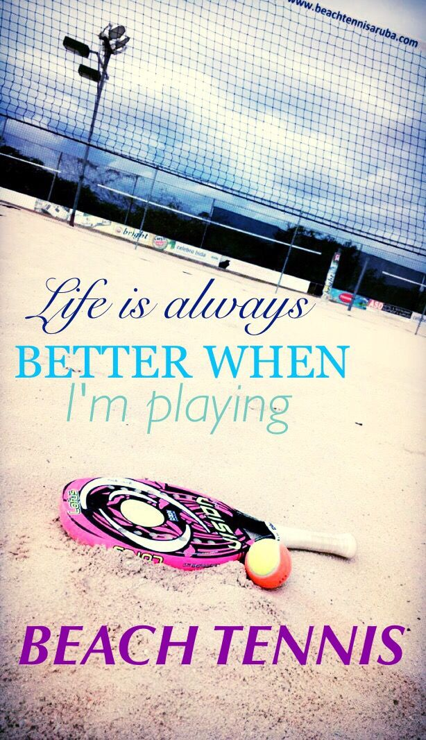 Life is better when I'm playing beach tennis
