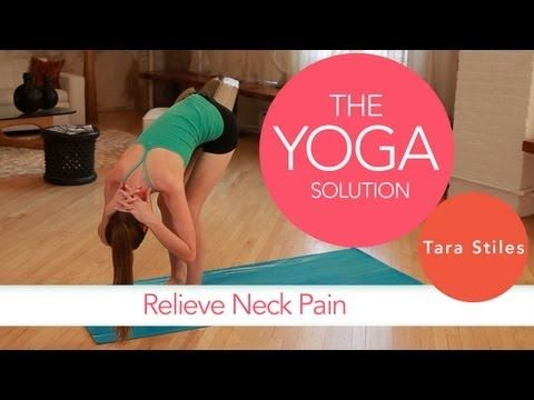 Relieve Neck Pain   The Yoga Solution With Tara Stiles - yoga video
