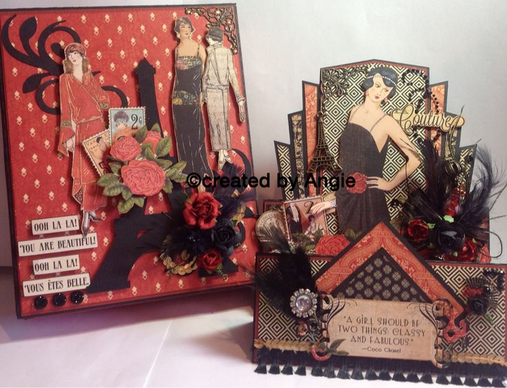 109 best images about cards art deco on pinterest crafts lady and card making - Pinterest couture deco ...
