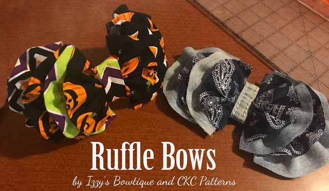 Create Kids Couture: Ruffled Wavy Fabric Bow
