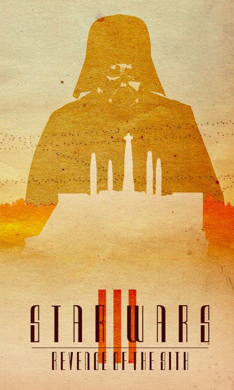 Star Wars: Episode III - Revenge of the Sith (2005) ~ Minimal Movie Poster by Travis English
