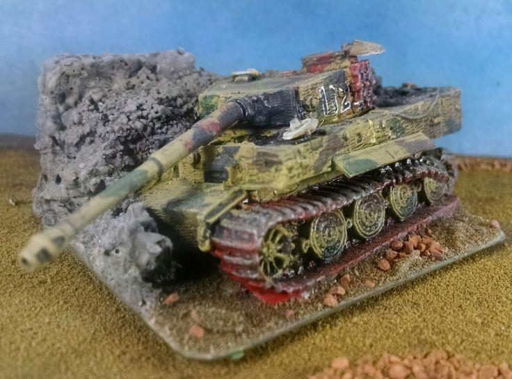 Flames of War: Home made Objective Marker-Destroyed German Tiger Tank | Parker's Workshop ...