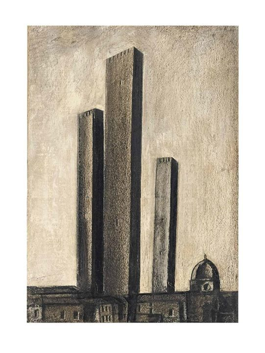 Mario Sironi (1885-1961), Urban Landscape with towers, 1927.