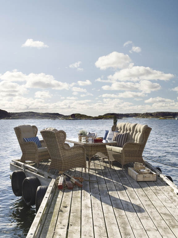 Evita – Mormorsfåtölj, här som hel grupp. Utemöbler, trädgårdsmöbler, Outdoor furniture.