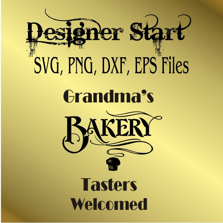 Grandmas Bakery PNG svg cutting file clipart wall decor silhouette by designerstart on Etsy