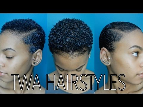 STYLING MY NEW BIG CHOP | HOW TO SLAY YOUR TWA  | 4C HAIR - YouTube