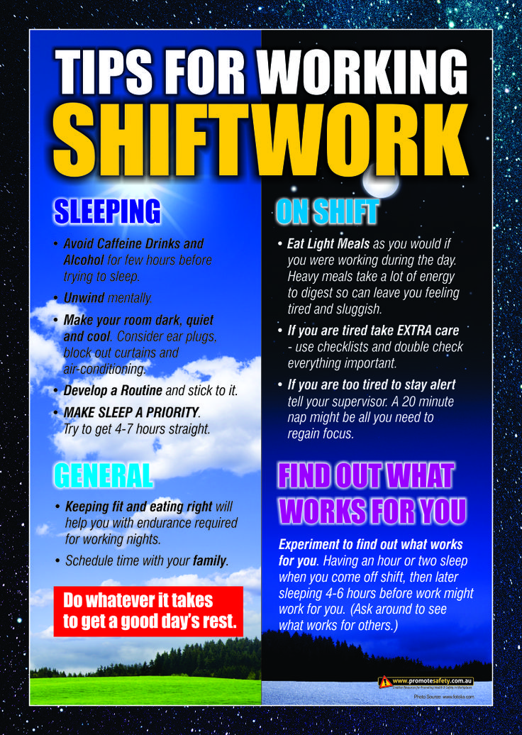 Workplace Health & Safety Poster with tips for workers for