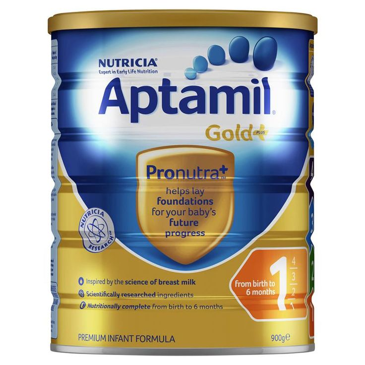Buy Aptamil Gold+ 1 Infant Formula 0-6 Months 900g Online at Chemist Warehouse®