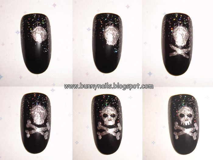 "Bunny Nails: ""Rocker Chick "" nail art tutorial"
