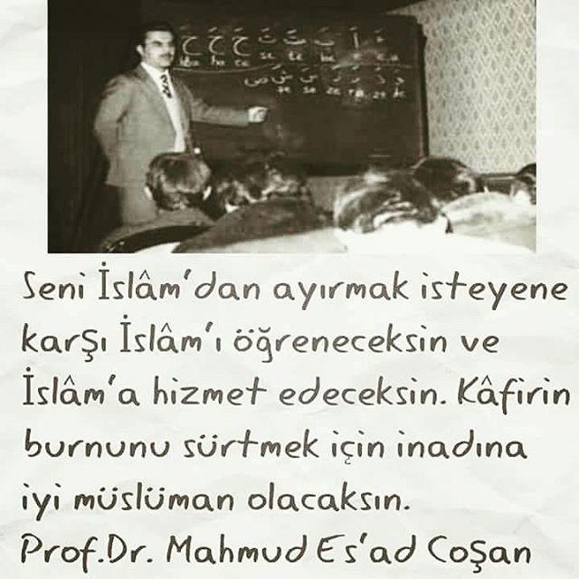 Seni İslam'dan ayırmak isteyene karşı İslam'ı öğreneceksin... #MahmudEsadCoşan