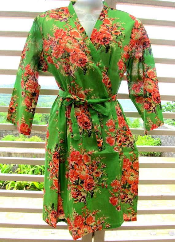 Kimono Robe Floral Gift for Her Loungwear by SunsetToSunrise, $30.00