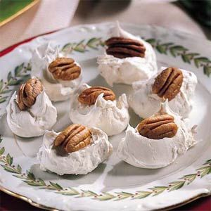 Divinity is a classic candy make with granulated sugar, corn syrup, and stiffly beaten egg white. With the addition of chopped pecans, this divinity is crunchy, fluffy, and simply divine.