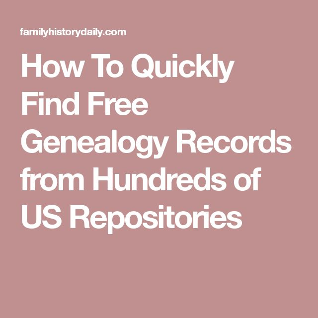 How To Quickly Find Free Genealogy Records from Hundreds of US Repositories