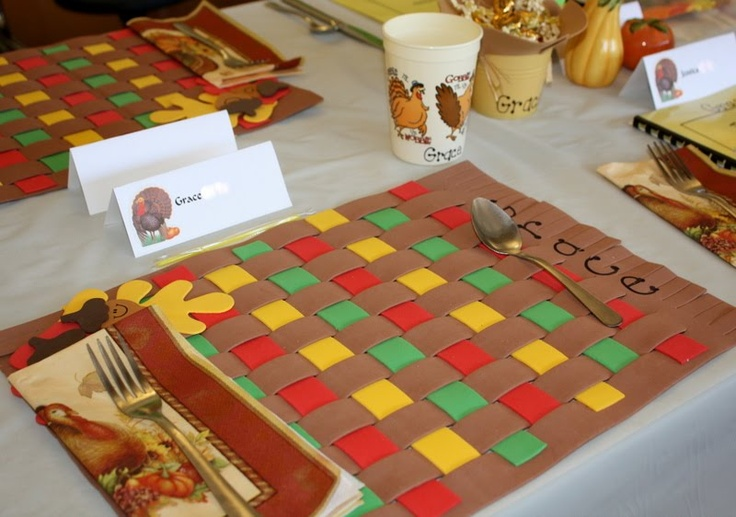 Thanksgiving Placemat, Don't Forget Some Fall Leaf Shapes