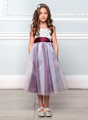 Lela Butterfly Merlot Bridesmaid Dress