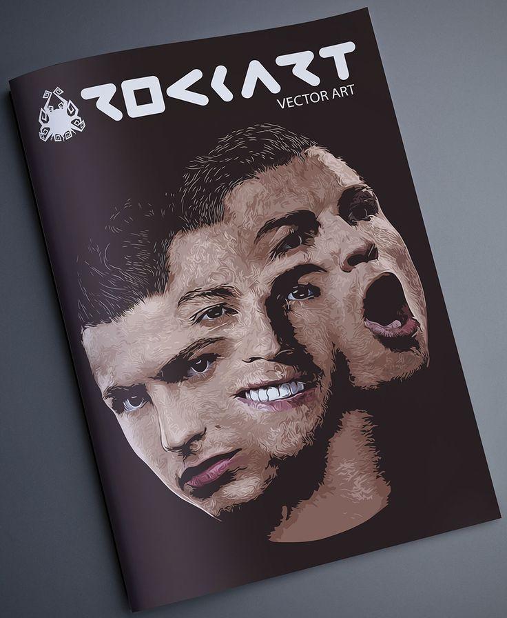 Cristiano Ronaldo 3 ekspresi wajah brushes + pentool adobe illustrator #vector #vectorart #17rockartdesign #mockup #magazine #illustrator #doubleexposure #dimashardiansa #adobe #indonesia #graphicdesigner #layout #branding #photoshop