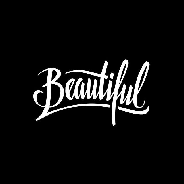 Vectorized Beautiful. Made by Melvin Leidelmeijer. Tags: hand lettering, brush pen, typography, hand written, handgeschreven, typografie, graphic design, grafisch ontwerp, logo, poster, art, vector