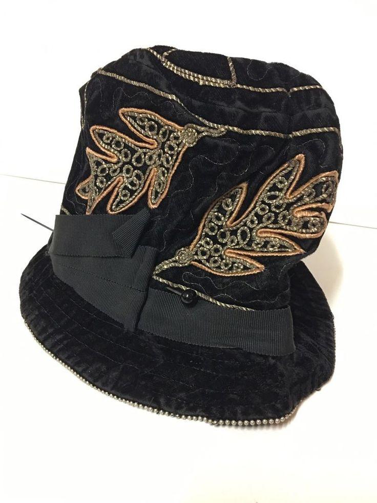 VINTAGE Genuine 1920s Metallic Thread HAT ORIG FRENCH FLAPPER Girl CLOCHE CAP #Cloche