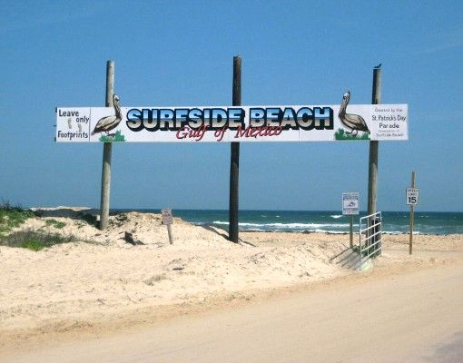 Surfside Beach is the cleanest beach in the area of Houston