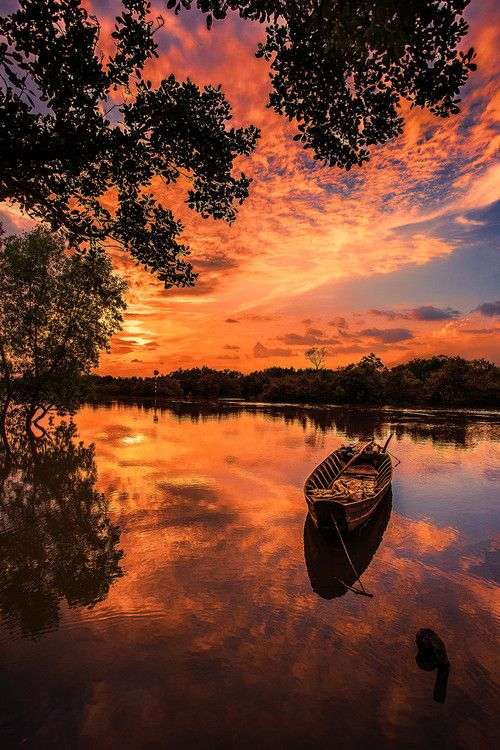 """""""River country"""" by Duy Nguyen ~ sunset ~ Saigon, Vietnam ~ http://500px.com/photo/54352472"""