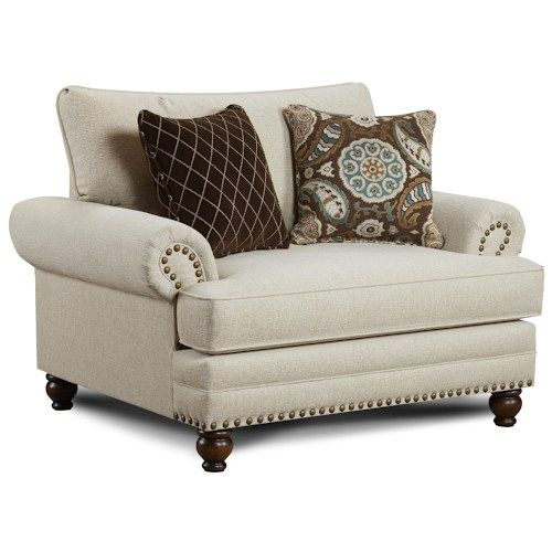 2820 Traditional Chair And A Half With Nailhead Trim By Fusion Furniture