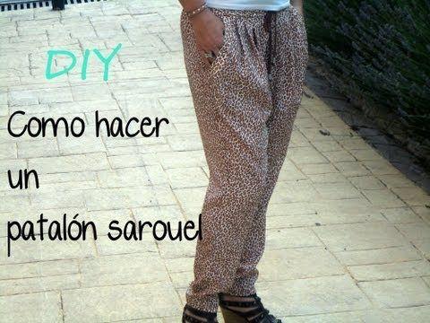 Do It Yourself pantalón sarouel: Patrón gratis, como hacer un pantalón sarouel.
